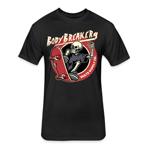 BodyBreakers Skate Supply Co - Fitted Cotton/Poly T-Shirt by Next Level