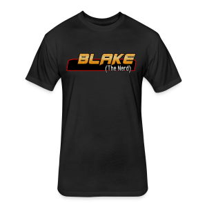 Blake (The Nerd) logo - Fitted Cotton/Poly T-Shirt by Next Level