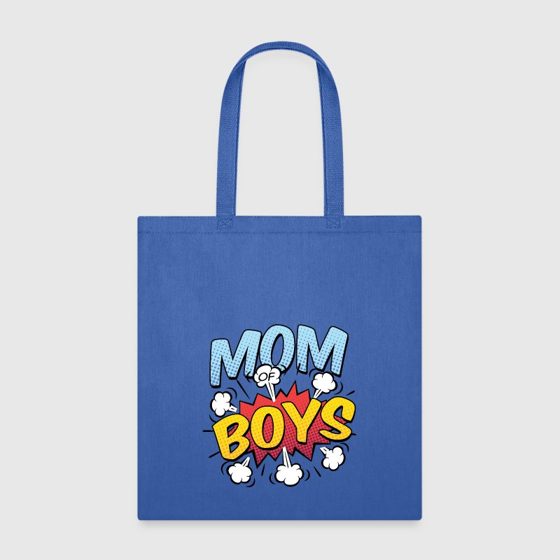 Mom of Boys Mother's Day Comic Book Style - Tote Bag