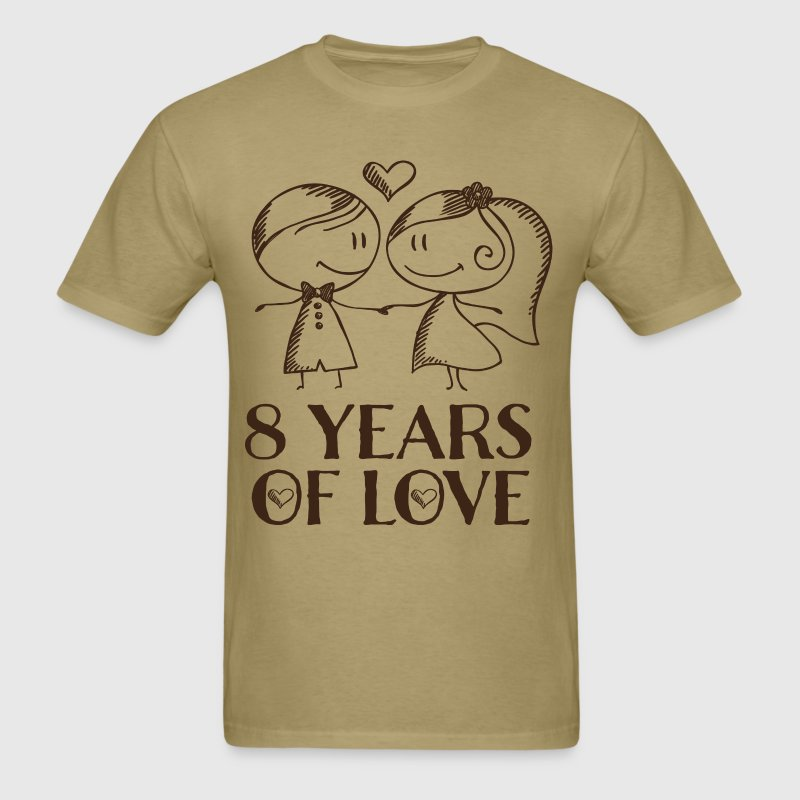 8th Anniversary 8 Years of Love Gift T-Shirts - Men's T-Shirt