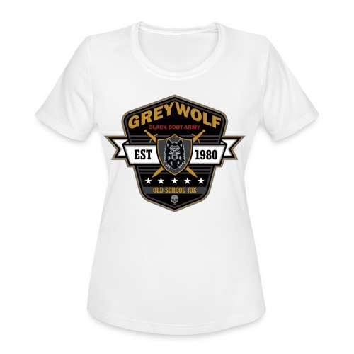 Grey Wolves Premium Tee Shirt - Women's Moisture Wicking Performance T-Shirt