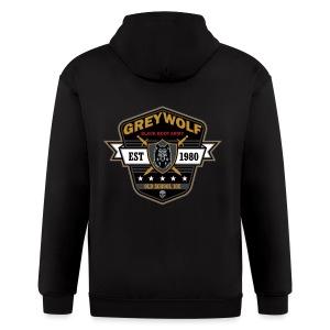 Grey Wolves Premium Tee Shirt - Men's Zip Hoodie