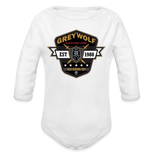 Grey Wolves Premium Tee Shirt - Organic Long Sleeve Baby Bodysuit