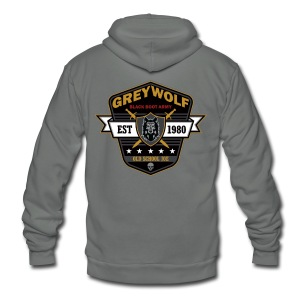 Grey Wolves Premium Tee Shirt - Unisex Fleece Zip Hoodie by American Apparel