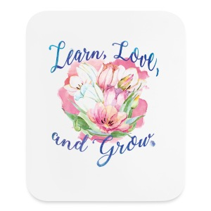 Beautiful Inspirational Flower Message - Mouse pad Vertical