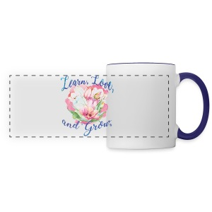 Beautiful Inspirational Flower Message - Panoramic Mug