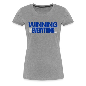 WCE Logo Blue & White - Women's Premium T-Shirt