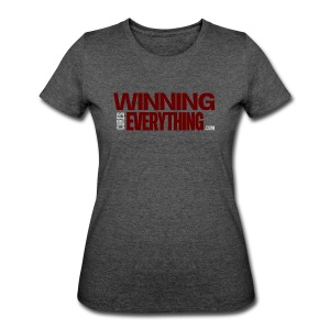 WCE Logo Maroon & Grey - Women's 50/50 T-Shirt
