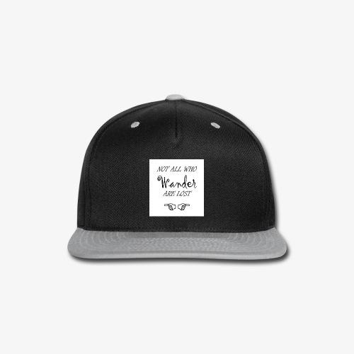 Wander Lost Mug - Snap-back Baseball Cap