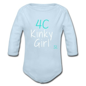 Natural Kinky 4C Hairstyles T- shirt by Stephanie Lahart #1  - Long Sleeve Baby Bodysuit