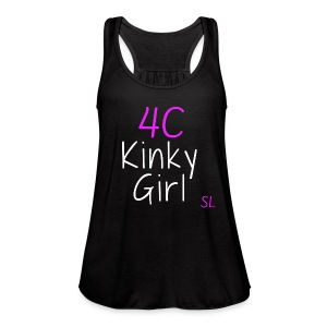 Natural Kinky 4C Hairstyles T- shirt by Stephanie Lahart #2 - Women's Flowy Tank Top by Bella