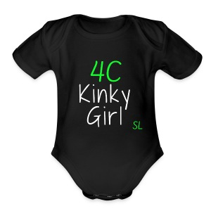 Natural Kinky 4C Hairstyles T- shirt by Stephanie Lahart #3 - Short Sleeve Baby Bodysuit