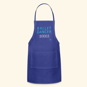 New York, NY 10003 Ballet Dancer T-shirt by Stephanie Lahart  - Adjustable Apron