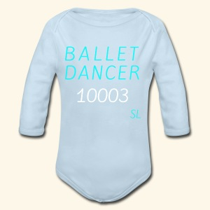 New York, NY 10003 Ballet Dancer T-shirt by Stephanie Lahart  - Long Sleeve Baby Bodysuit