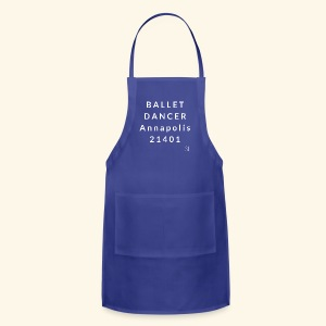 Annapolis Maryland 21401 Ballet Dancer T-shirt by Stephanie Lahart - Adjustable Apron