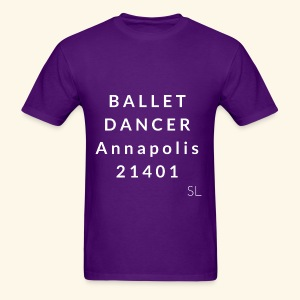 Annapolis Maryland 21401 Ballet Dancer T-shirt by Stephanie Lahart - Men's T-Shirt
