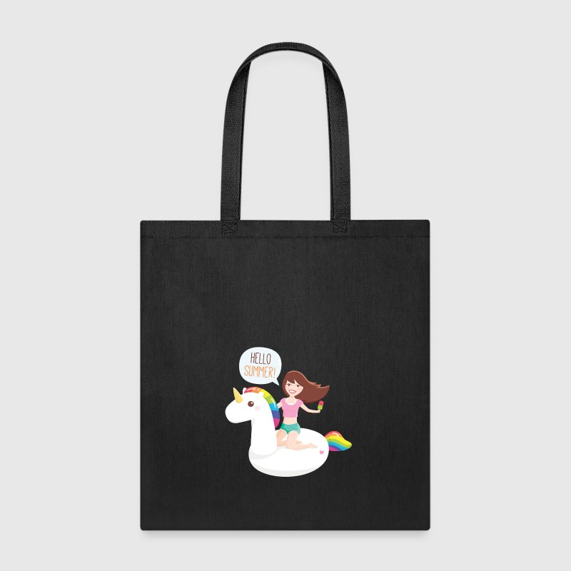 Girl on Unicorn Float Bags & backpacks - Tote Bag