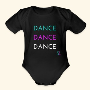 Colorful, Cool, and Stylish DANCE T-shirt for DANCERS by Stephanie Lahart.  - Short Sleeve Baby Bodysuit