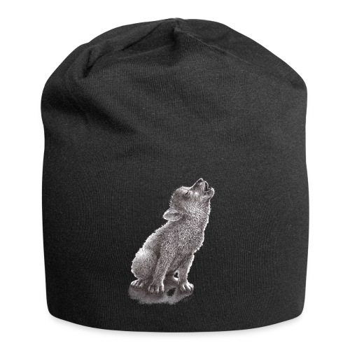 Funny Howling Wolf - Jersey Beanie