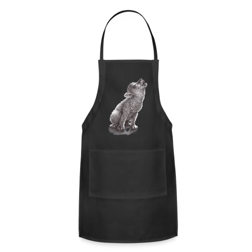 Funny Howling Wolf - Adjustable Apron