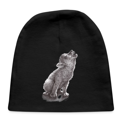 Funny Howling Wolf - Baby Cap