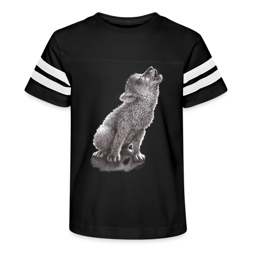 Funny Howling Wolf - Kid's Vintage Sport T-Shirt