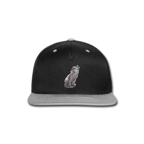 Funny Howling Wolf - Snap-back Baseball Cap