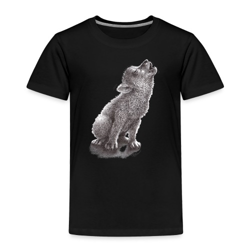 Funny Howling Wolf - Toddler Premium T-Shirt