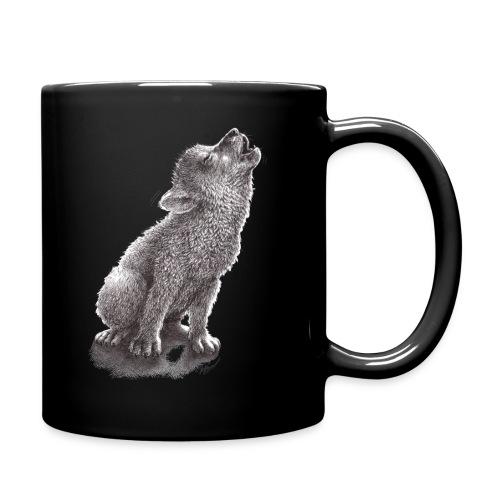 Funny Howling Wolf - Full Color Mug