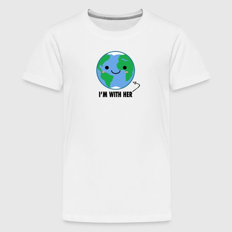 I'm With Her - Planet Earth Day - Kids' Premium T-Shirt