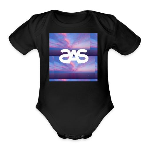 SplashSquad Vultra Calm - Organic Short Sleeve Baby Bodysuit