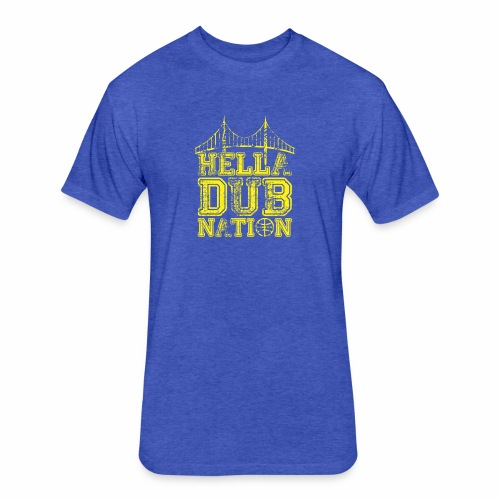 DUBNATION - Fitted Cotton/Poly T-Shirt by Next Level