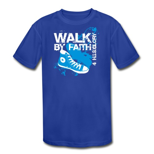 4 H.I.S.Glory Walk By Faith Kids T-Shirt - Kid's Moisture Wicking Performance T-Shirt