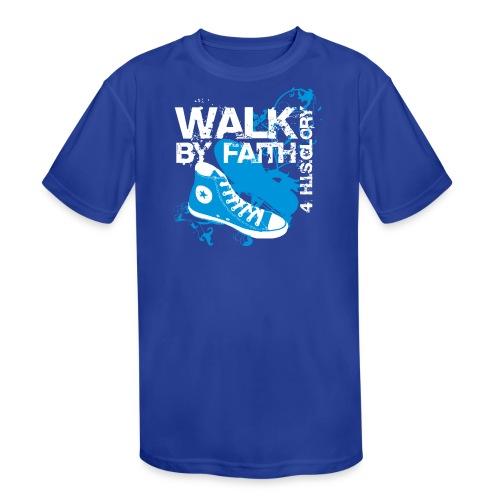 4 H.I.S.Glory Walk By Faith Kids T-Shirt - Kids' Moisture Wicking Performance T-Shirt