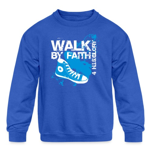 4 H.I.S.Glory Walk By Faith Kids T-Shirt - Kid's Crewneck Sweatshirt