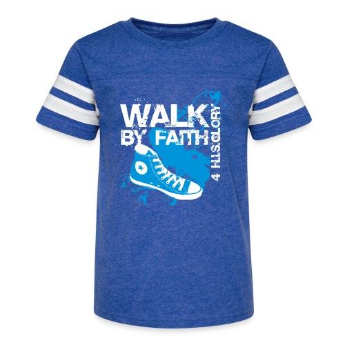 4 H.I.S.Glory Walk By Faith Kids T-Shirt - Kid's Vintage Sport T-Shirt
