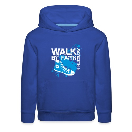 4 H.I.S.Glory Walk By Faith Kids T-Shirt - Kids' Premium Hoodie
