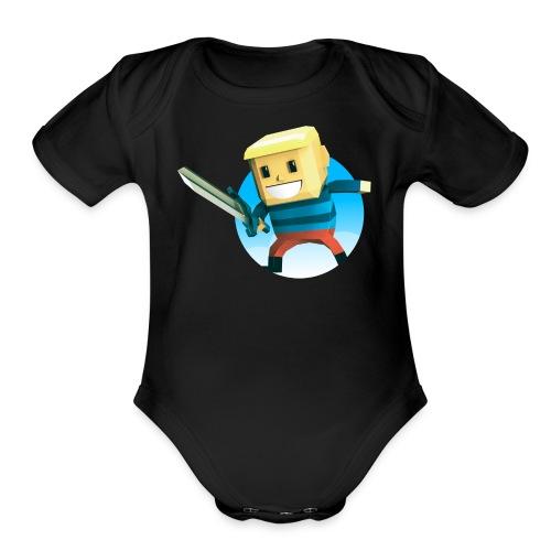 BlockBoy Swordsman - Organic Short Sleeve Baby Bodysuit