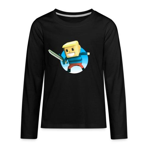 BlockBoy Swordsman - Kids' Premium Long Sleeve T-Shirt