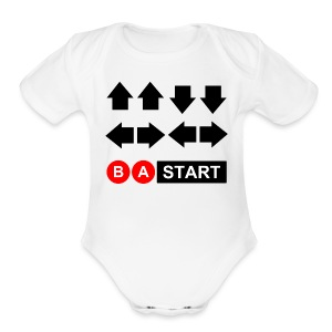 Contra Code Kid's T-Shirt by American Apparel - Short Sleeve Baby Bodysuit