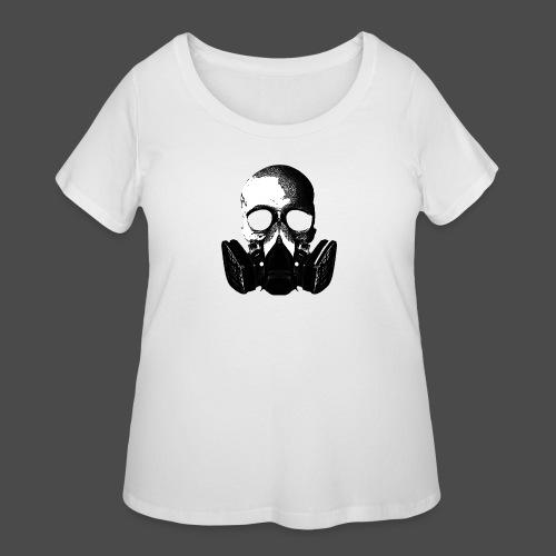 Khan Skull Buttons [Small] (5 Pack) - Women's Curvy T-Shirt
