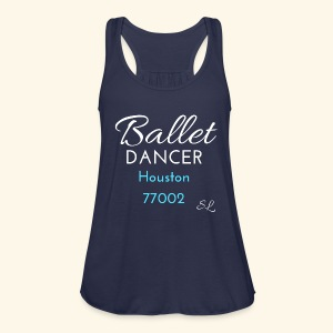 Houston Texas 77002 Ballet Dancer T shirt by Stephanie Lahart.  - Women's Flowy Tank Top by Bella