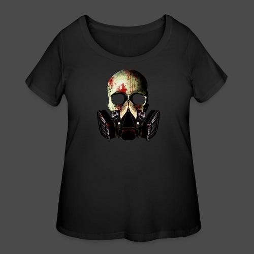 Khan Blood Skull Men's T-Shirt - Women's Curvy T-Shirt