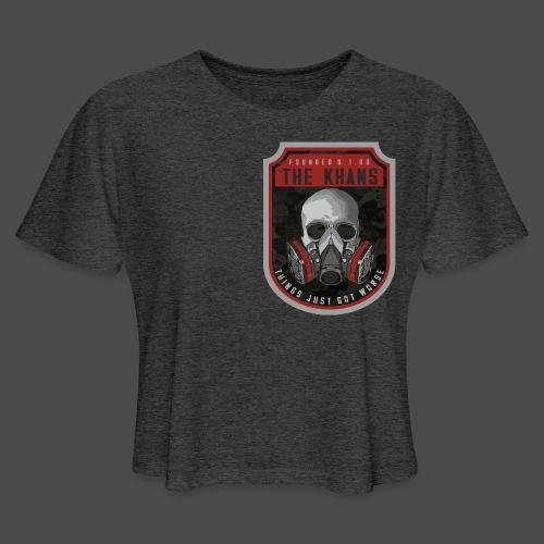 Khans Camo Badge Men's T-Shirt - Women's Cropped T-Shirt