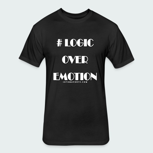 Logic Over Emotion - Fitted Cotton/Poly T-Shirt by Next Level