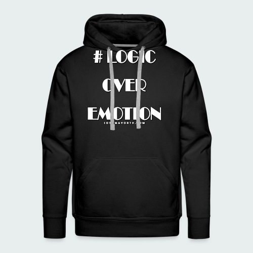 Logic Over Emotion - Men's Premium Hoodie