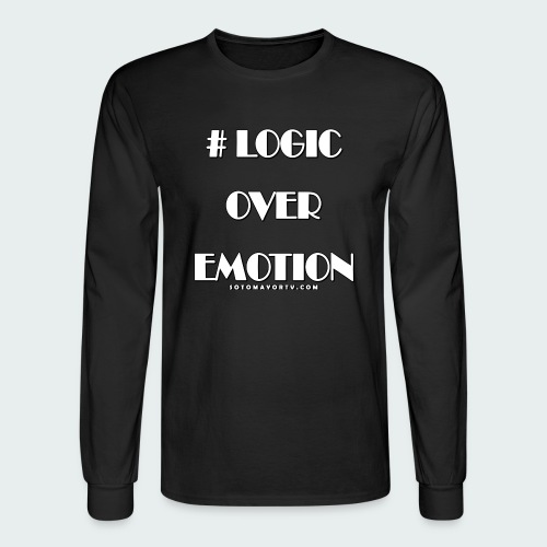 Logic Over Emotion - Men's Long Sleeve T-Shirt