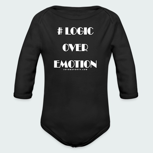 Logic Over Emotion - Organic Long Sleeve Baby Bodysuit