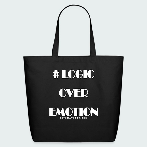 Logic Over Emotion - Eco-Friendly Cotton Tote