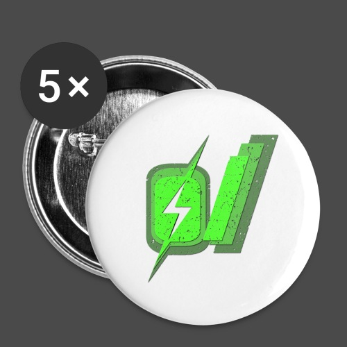 O Slash Men's T-Shirt - Buttons small 1'' (5-pack)